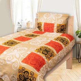 HOD Obliečky MYRA  Oranžová Bavlna 70x90 140x200 cm