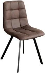 OVN stolička IDN 4093 hnedá mikrovlákno / čierna