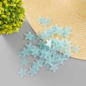 Veselá Stena Svietacie fosforové modré hviezdičky 80 ks