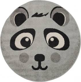 Detský kusový koberec Panda sivý kruh, Velikosti 120x120cm