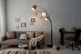 Dizajnová oblúková stojanová lampa Shadow II