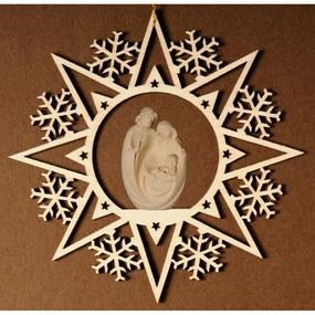 Krištáľová hviezda so Svätou rodinou