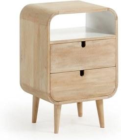 Nočný stolík z mangového dreva s 2 zásuvkami La Forma Gerald, 40 × 30 cm