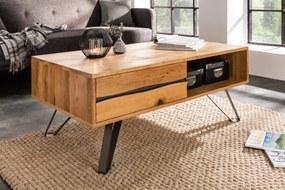 Dizajnový konferenčný stolík Fringe, 110 cm, divý dub