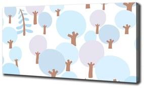 Foto obraz na plátne Farebné stromy pl-oc-140x70-f-120828501