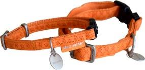 Obojok pre psov MAC LEATHER oranžová Barva: oranžová, Velikost: šírka 1,5 cm, obvod 28-40cm