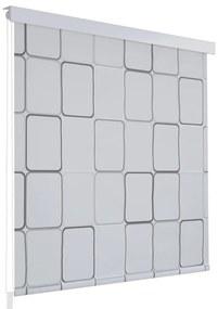 vidaXL Sprchová roleta, 180x240 cm, štvorcový vzor