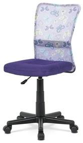 Sconto Kancelárska stolička BAMBI fialová