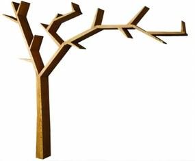 Police v tvare stromu - sedliacky nábytok