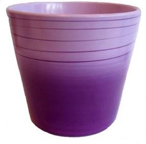Keramický obal na kvetináč Fine fialová, pr. 13,5 cm