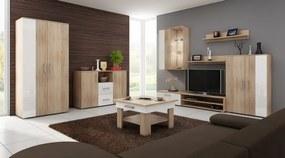 MEBLOCROSS Stella obývacia izba sonoma svetlá / biela