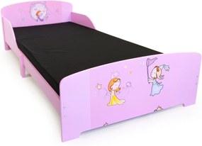 Homestyle4U Detská drevená posteľ Princezné