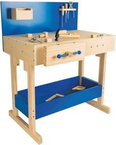 Set detského dreveného pracovného stola s náradím Legler Workbench