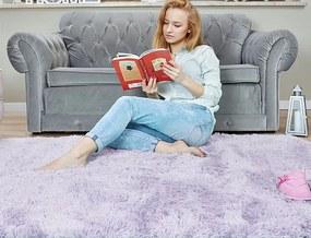 MAXMAX Detský plyšový koberec MAX levanduľovou obdĺžnikový Dlhý vlas (SHAGGY) fialová