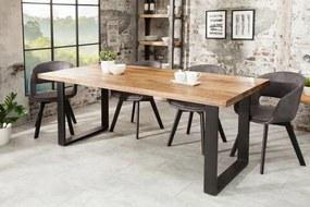 Jedálenský stôl Iron Craft 180cm natur Mango