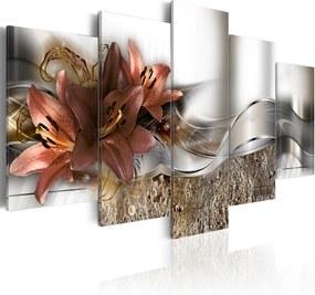 Obraz na plátne Bimago - Lily Marsala and Abstraction 200x100 cm