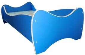 Detská posteľ MIDI 140x70 modrá