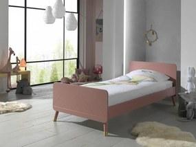 Ružová detská posteľ Billy
