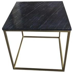 Estelle malý konferenčný stolík čierna/zlatá