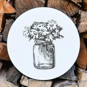 Drevený obraz do kuchyne - Kvety