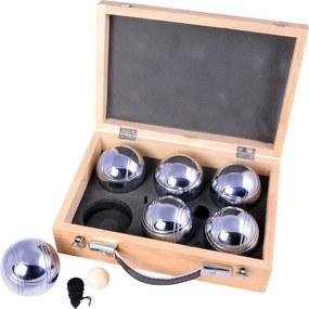 Petanque Metal set X6 v drevenom kufríku