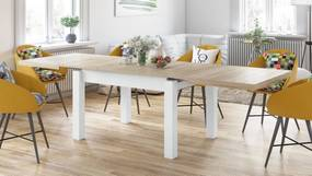 ROYAL jedálenský stôl rozkladací - dub sonoma / biela, pre 8 osôb