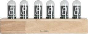 KARLSSON Stolné hodiny Cathode drevené