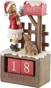 Adventný kalendár, dievčatko 22,5 cm Winter Bakery