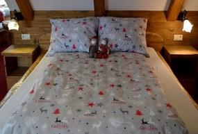 Posteľná obliečka Christmas Star Grey 140x200/70x90cm