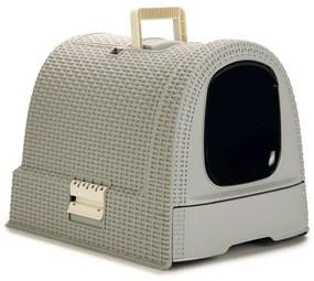 Curver Krytá mačacia toaleta 51x38,5x39,5 cm šedá