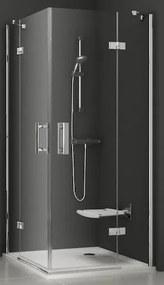 Sprchový kút štvorec 90x90x190 cm Ravak Smartline chróm lesklý 1SV77A00Z1
