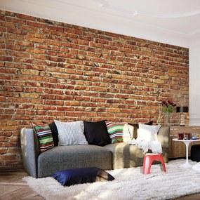 Fototapeta - Tehlový múr 200x140 + zadarmo lepidlo