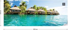 Fototapeta GLIX - Island Tropical Sea Paradise + lepidlo ZADARMO Vliesová tapeta  - 250x104 cm