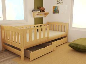 MAXMAX Detská posteľ z masívu 200x90cm bez zásuvky - DP002