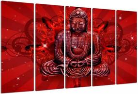 CARO Obraz na plátne - Buddha In Red 150x100 cm