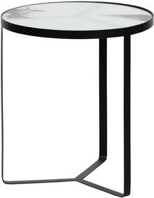 Kovový odkladací stolík so sklenenou doskou BePureHome Fly, ⌀ 45 cm
