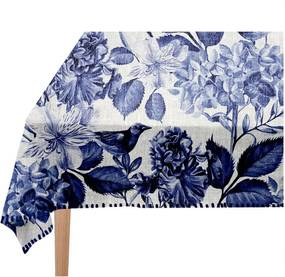 Obrus Linen Couture Blue Birds, 140 x 140 cm