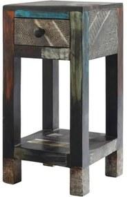 Sconto Prístavný stolík GOA mangovník/akácia/kovové aplikácie