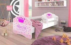 Dievčenská posteľ 160x80 cm so zábranou Princezná