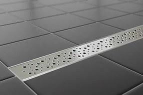 EURO Sprchový podlahový žľab 90 cm - DIERKY M9002