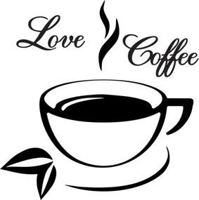 Nálepka na stenu Love Coffee 50x50cm NS2713A_1GE