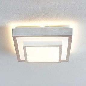 Lindby Mirco hliníkové stropné LED, hranaté, 32cm