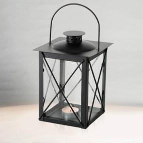 Lucerna Farol, čierna, 20 cm