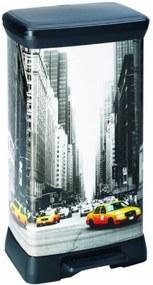CURVER DECOBIN 50L New York Odpadkový kôš 39x29x73cm 02162-N29