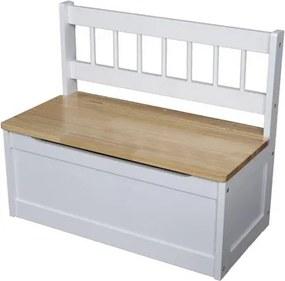 OVN detská lavica IDN 314103 biely lak