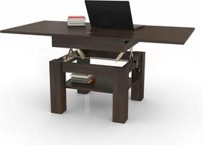Mazzoni CLEO wenge, rozkladacia, zdvíhací konferenčný stôl, stolík