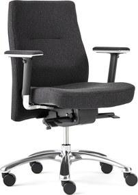 Kancelárska stolička NOTTINGHAM, čierna / čierna