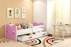 BMS Group Jednolôžková posteľ MIKULÁŠ - so zásuvkou - BIELA