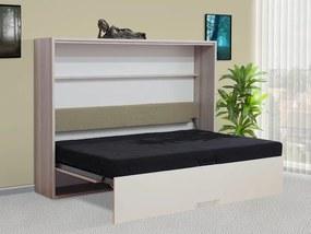 sklápacia posteľ VS1056P, 200x140cm lamino: bílá, nosnost postele: standardní nosnost