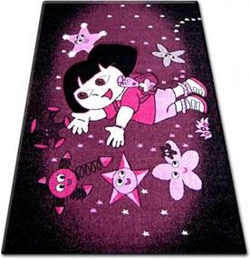Detský kusový koberec Ema fialový, Velikosti 140x190cm